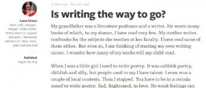 is-writing-the-way-to-go